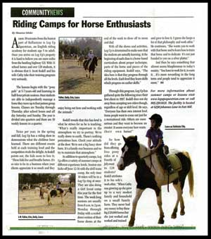 Charlotte NC Horsebacking Riding Camps